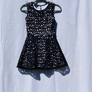 black and white amy's closet formal dress